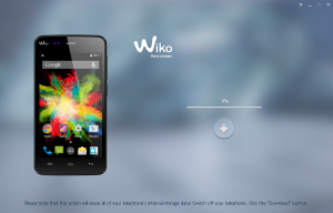 Wiko BLOOM Upgrade application