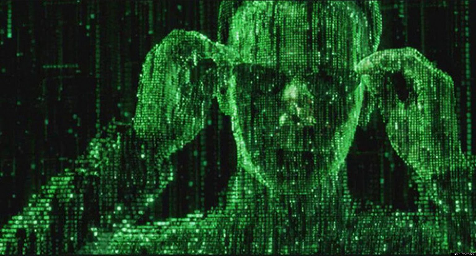 I can see the code in the Matrix