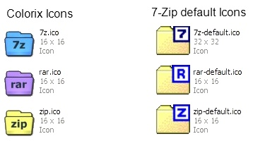 7-Zip Colorix Icons Screenshot